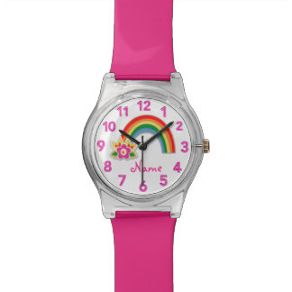 Rainbow Watch Personalised Watches for Girls