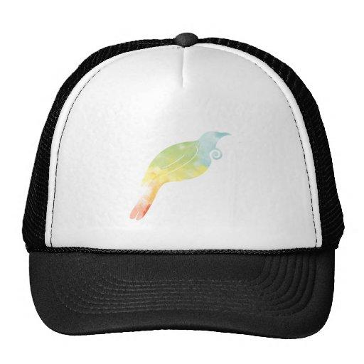 Rainbow Water Colour Tui Hat