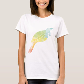Rainbow Water Colour Tui T-Shirt
