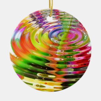 Rainbow Water Rings Christmas Ornament