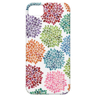 Rainbow Watercolor Dahlia Flowers Iphone 5 Case