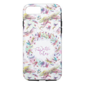 Rainbow Watercolor Dragonflies Water Tales iPhone 7 Case