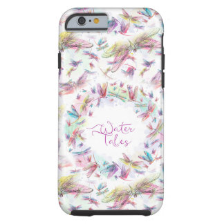 Rainbow Watercolor Dragonflies Water Tales Tough iPhone 6 Case