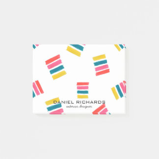 Rainbow watercolor Interior Designer Business Card Post-it Notes