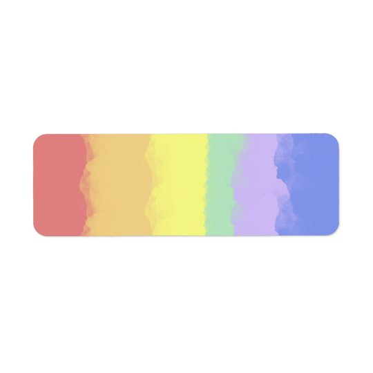 Rainbow Watercolor Return Address Label