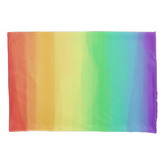 Rainbow Watercolors Pillowcase