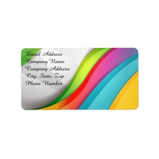 Rainbow Wave Addresss Labels