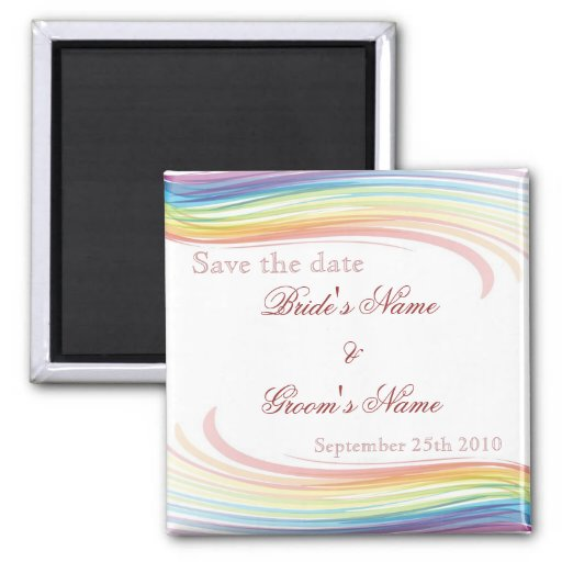 Rainbow Wave Save the Date Magnet