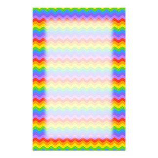 Rainbow Wave Stripes. Stationery