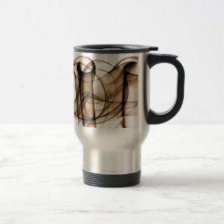 Rainbow Waves 2 Sepia Brown Coffee Mugs