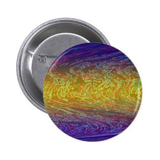 Rainbow Waves 6 Cm Round Badge