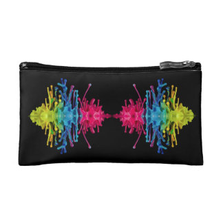 Rainbow Waves Cosmetic Bag