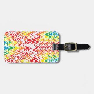 Rainbow Waves Luggage Tag
