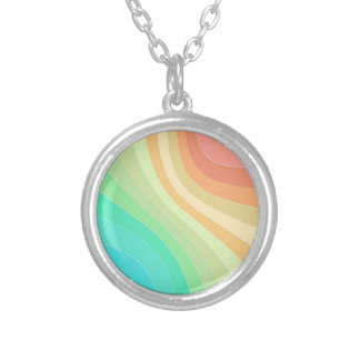 Rainbow Waves Silver Plated Necklace