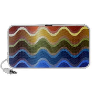 Rainbow Waves Travelling Speakers