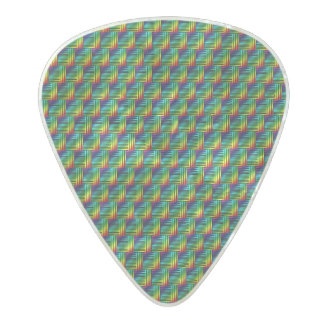 Rainbow Weave Pearl Celluloid Guitar Pick
