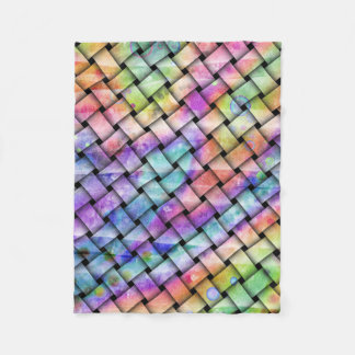 RAINBOW WEAVED FLEECE BLANKET