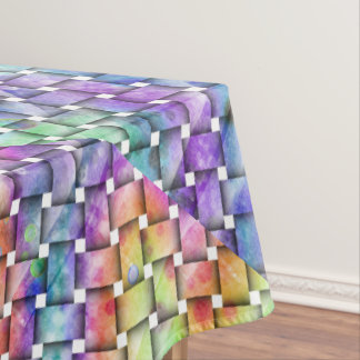 RAINBOW WEAVED TABLECLOTH