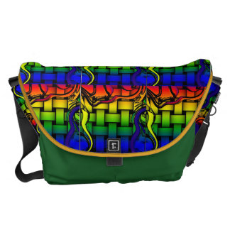 Rainbow Weaver Courier Bags