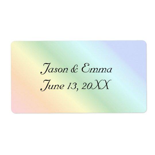 Rainbow Wedding Bottle Labels