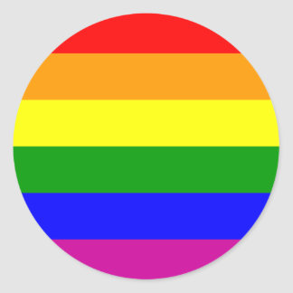 Rainbow Wedding/Gay Pride Classic Round Sticker