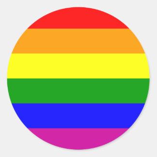 Rainbow Wedding/Gay Pride Round Sticker