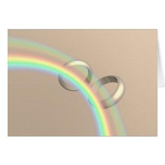 Rainbow Wedding Rings Card