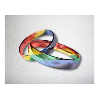 Rainbow Wedding Rings for Marriage Equality 21.5 Cm X 28 Cm Flyer