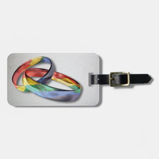 Rainbow Wedding Rings for Marriage Equality Luggage Tag