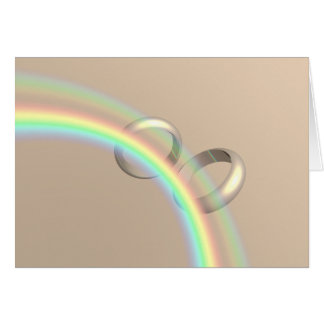 Rainbow Wedding Rings Greeting Card