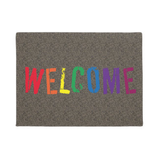 Rainbow Welcome Doormat