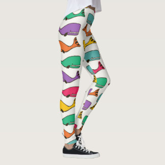 Rainbow Whale Leggings