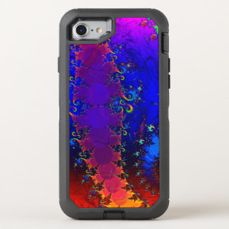 Rainbow Whirl Whimsical Fractal OtterBox Defender iPhone 8/7 Case