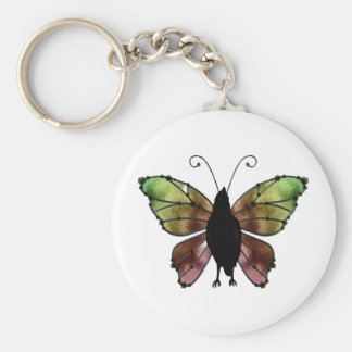 Rainbow Wing Butterfly Raven Keychains
