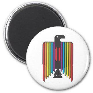 Rainbow Winged Thunderbird 6 Cm Round Magnet