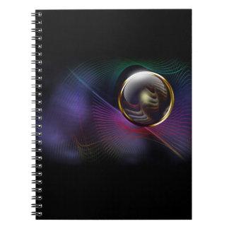 Rainbow wire bound notebook