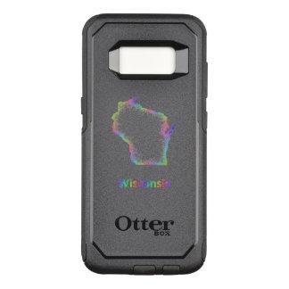 Rainbow Wisconsin map OtterBox Commuter Samsung Galaxy S8 Case