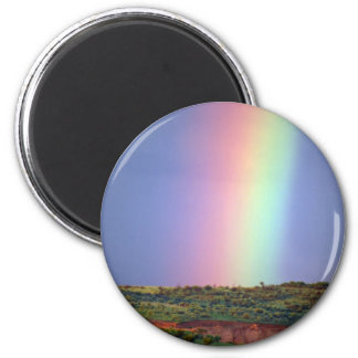 Rainbow wish come true 6 cm round magnet