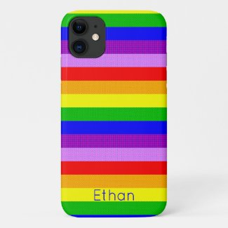 Rainbow with a dotty pattern Case-Mate iPhone case