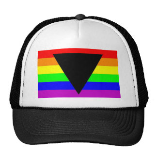 Rainbow with Black Triangle for Gay and Lesbians Cap