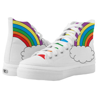 Rainbow with Cloud High Tops