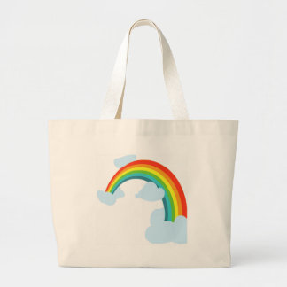 RAINBOW WITH CLOUDSpng Tote Bag