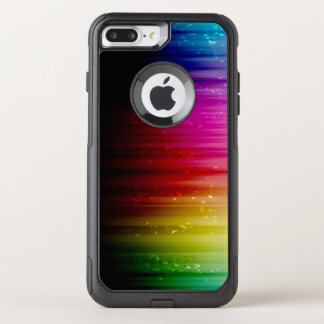 Rainbow With Glitter OtterBox Commuter iPhone 8 Plus/7 Plus Case