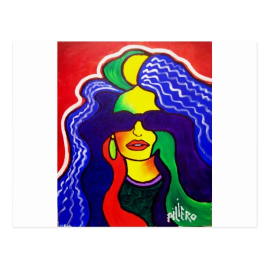 Rainbow Woman 10-1 by Piliero Postcard