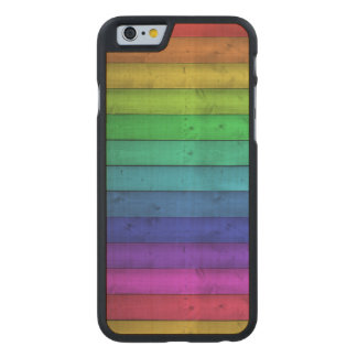 Rainbow Wood Phone Case - SRF Carved® Maple iPhone 6 Case