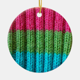 rainbow Wool Sock Christmas Ornament