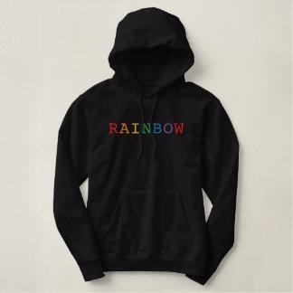 Rainbow Word Embroidered Hoodie