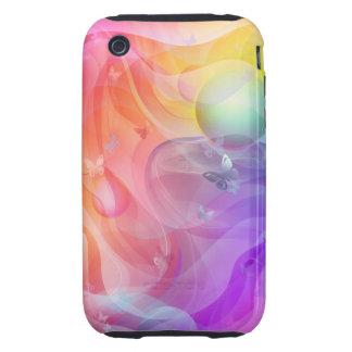 Rainbow world iPhone 3 tough case