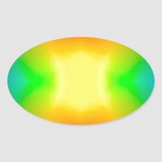 Rainbow World Oval Sticker