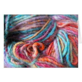 Rainbow Yarn Bundle Card